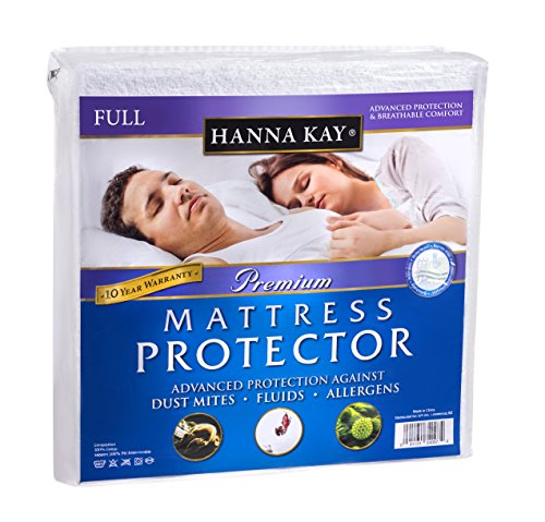 Hanna Kay Mattress Protector Waterproof Breathable and Hypoallergenic Full Size