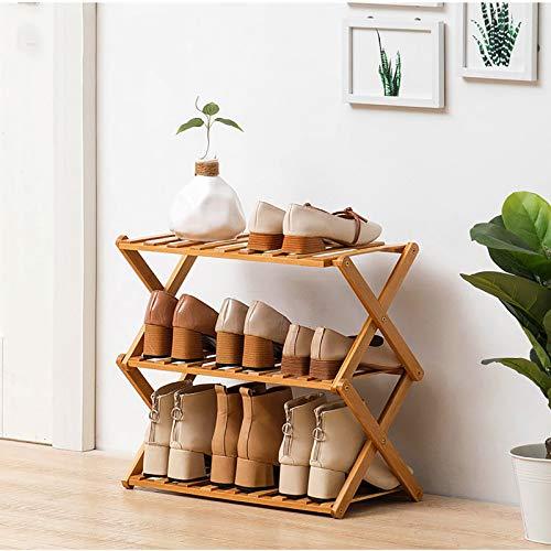 Simple Zapatero,3-nivel Plegable Instalación-gratis Estante De Almacenamiento De Rack De Zapatos,Multifuncional Pequeño Gabinete De Zapatos Para Dormitorio,Entrada,Interior-B 50x25x39cm(20x10x15inch)