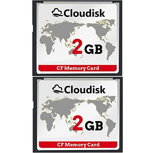 2pcs Prestazioni della scheda di memoria CF Compact Flash da 2 GB per fotocamera digitale vintage (2GB)