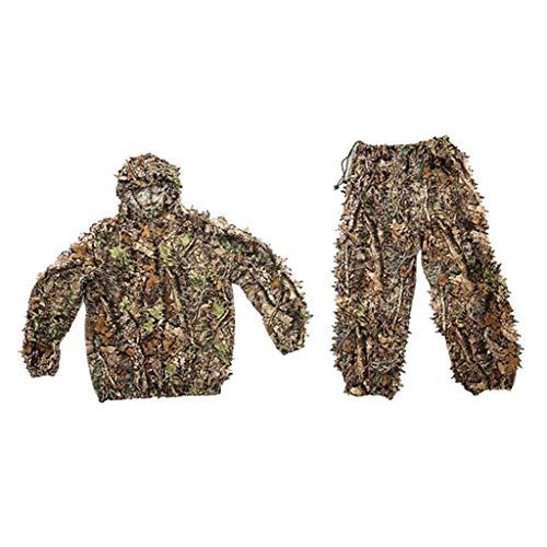 #N/A Berg Ghillie Anzug-Camo Jagd Anzug-3D Grünen Anzug-Camouflage Jagd Anzug Mit Kapuze Camo Jacke & Hosen-volle Front Zipper-Atmungsaktiv - Kinder