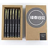 Fengtaiyuan P18, Gel Ink Rollerball Pens, Black Ink, 0.5mm, Writing Smooth, Extra Point