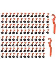 Tile leveling system kit, 100 stuks herbruikbare afstandhouders voor tegelcompensatie, 2 stuks speciale sleutels