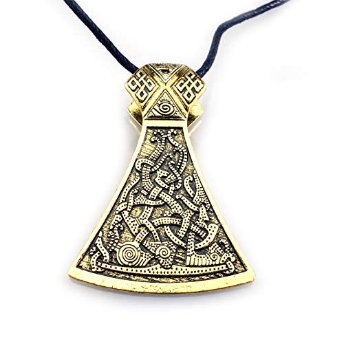 URBANTIMBER Wikinger Halskette Odin's Axt - Silber oder Bronze/Gold