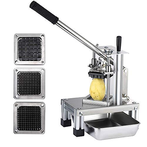 TOPQSC Coupe Frites MachineRâpe à Fruits et légumes Interchangeable Commerciale avec Lame 1/4\