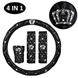 IYOYI Universal Protection Cover Set : Bling Crystal Steering Wheel...