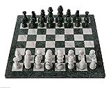CBAM Tablero de ajedrez en mármol Blanco y ónix Verde 40x40cm.