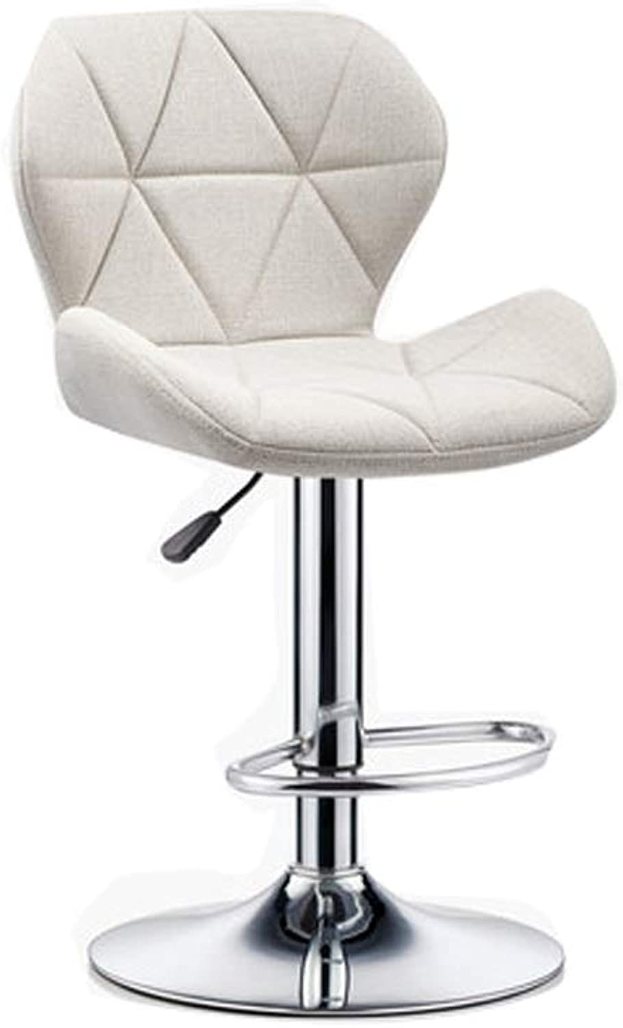 Barstool Nordic bar Chair Home high Stool 5 colors Adjustable Height 60cm to 115cm (color   White)