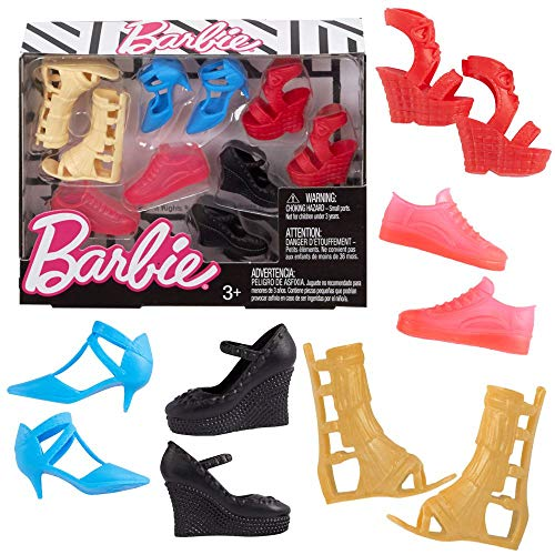Barbie FCR93, Pack de Zapatos, Multicolor
