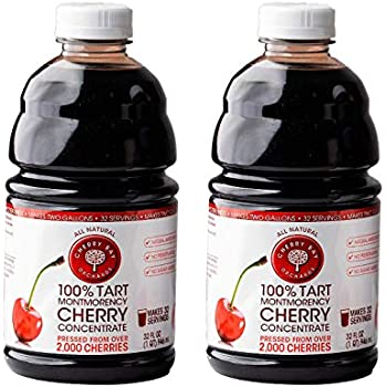 Cherry Bay Orchards Tart Cherry Concentrate - All Natural Juice to Promote Healthy Sleep, 32oz Bottle (Case of 2) - Gluten Free, Natural Antioxidants, No Added Sugar or Preservatives