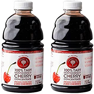 Cherry Bay Orchards Tart Cherry Concentrate - All Natural Juice to Promote Healthy Sleep, 32oz Bottle (Case of 2) - Gluten...