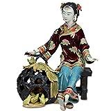 WPXBF Estatuas Figuritas Decoración Escultura Figuritas Decorativas Estatuas Pollo De Porcelana Antigua Mujeres Hermosas Esculturas De Arte Muñecas De Cerámica Figuras Estatua Femenina Decoración