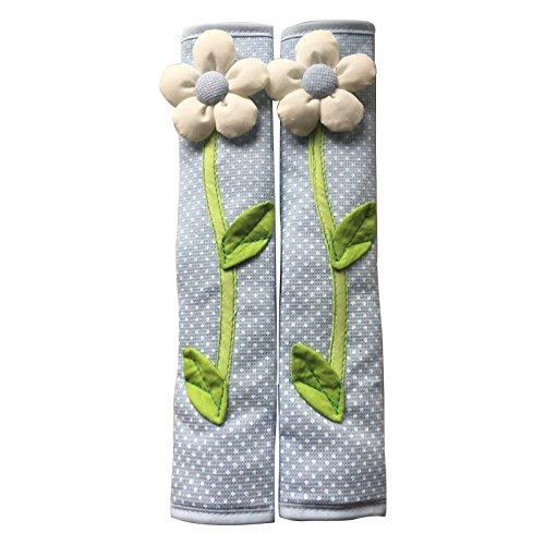 Hrsptudorc 2PCS Pastoral Flower Polka Dot Door/Refrigerator Handle Cover Nevera Door Handle Gloves DecoracióN para el Hogar Accesorios de Cocina Azul