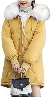 Howely Women's Anorak Jacket Puffer Winter Fur Trim Hooded Outwear Jacket