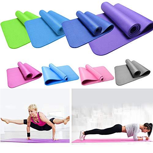 Cebbay Gymnastikmatte, Yogamatte, Top-Material, 173 x 61 x 1cm cm, rutschfest Sportmatte& komfortable - Fitnessmatte/Sportmatte für Yoga Workout Sport Fitness Pilates-Extra Dicke