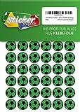 135, Fútbol, pegatinas, 20mm, verde/negro, de PVC, pantalla, estampado, autoadhesivo, EM, WM, Bundesliga