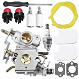 C1M-W26C Carburetor 545070601 for Poulan Pro PP3416 PP3516 PP3816 PP4018 PP4218 PPB3416 SM4218AV Gas Chainsaw with Air Filter Spark Plug Adjustment Tool