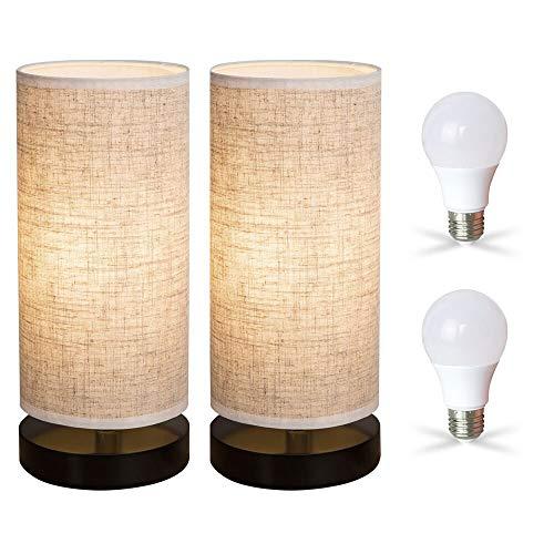 ZEEFO Lámparas de Mesa Ideales para Dormitorio, Sala de Estar, habitación de los niños