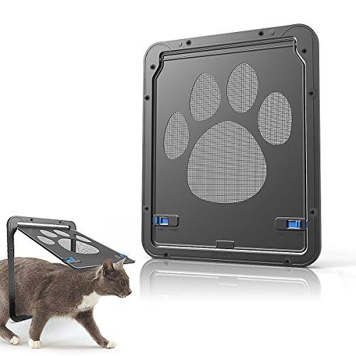 Namsan Katzenklappe Fliegengitter Hundeklappen Haustierklappe für Kleine Hunde Katzen Installieren Leicht mit abschließbar robust 29cm x 24cm