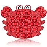 Bdwing Push Pop Bubble Sensory Fidget Toy, Estrusione Bolla Giocattoli Sensoriali Educativi Estrusione per Autismo ADHD ADD Bisogno Speciale Antistress Ansia Sollievo Bolle di Estrusione