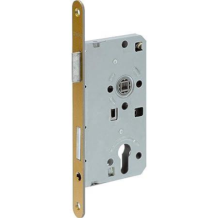 Color Plateado Cerradura empotrable para Puerta Abus 455513 TKZ40 Apertura Derecha y Apertura Izquierda