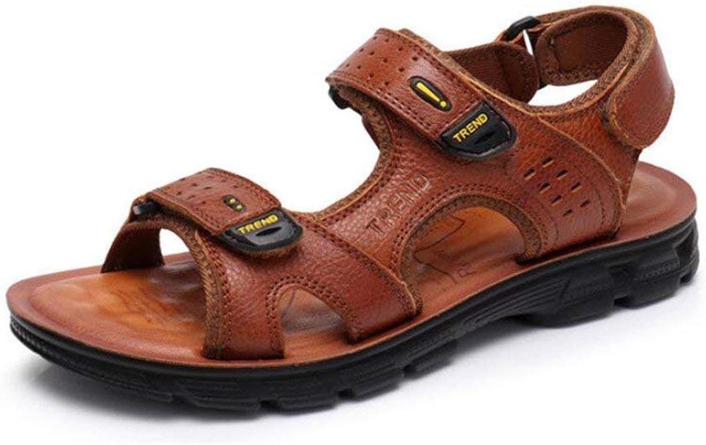 Herren Ledersandalen Outdoor Wandern Trekking Schuhe Sommer