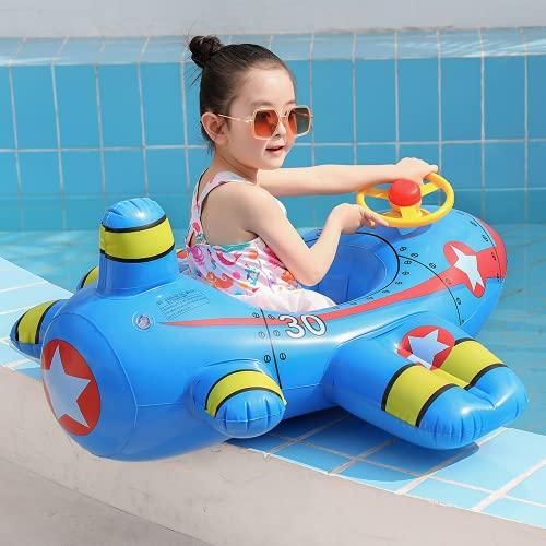 NA/ Espesar Anillos de natación de Aviones creativos, Anillos de natación Infantil inflables, Asientos para bebés