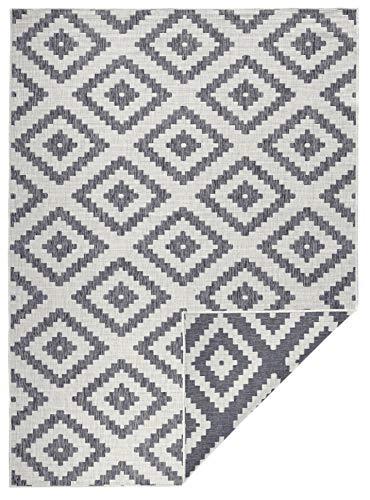 bougari In- & Outdoor Wendeteppich Malta Grau Creme, 80x150 cm
