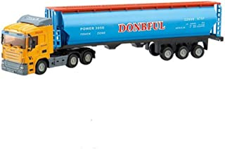 OUYAWEI Inertial Container Trailer Truck Toys 1:64 Alloy Container Car Model Pull Back Car Toy for Gift Collection DB-010085