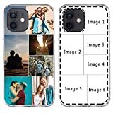 Custom Multiple Pictures Phone Case for iPhone 13 11 12 Pro Max X XR Xs Max, Personalized Phone Cases,Customized Photos Clear TPU Cover for Birthday Xmas Valentines Friends Her and Him Girls Boys