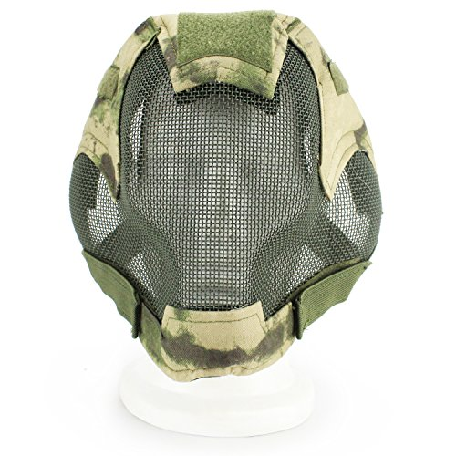XUE Airsoft Maske Full Face Mesh Gesichtsmaske Camo Taktische Paintball Schutz Masken für Softair Fechten Jagd Halloween (9 Farbe)