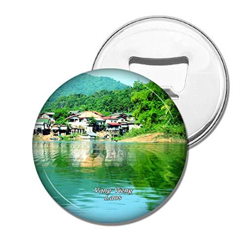Weekino Tham PHU Kham Vang Vieng Laos Bier Flaschenöffner Kühlschrank Magnet Metall Souvenir Reise Gift