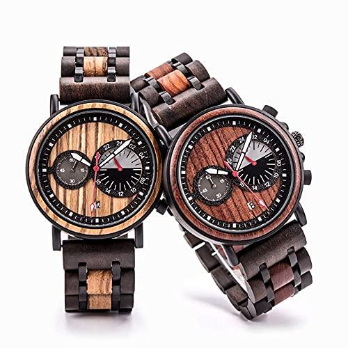 yuyan 2PCS Pareja Reloj, Representante de Amor, Amante, La Combinación de Tecnología y Naturaleza, Movimiento de Cuarzo japonés, Reloj de Deportes de Negocios