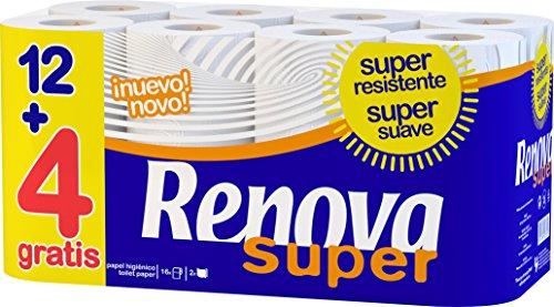 Renova 200062649 Papier Toaletowy, 16 Rolek, Biały