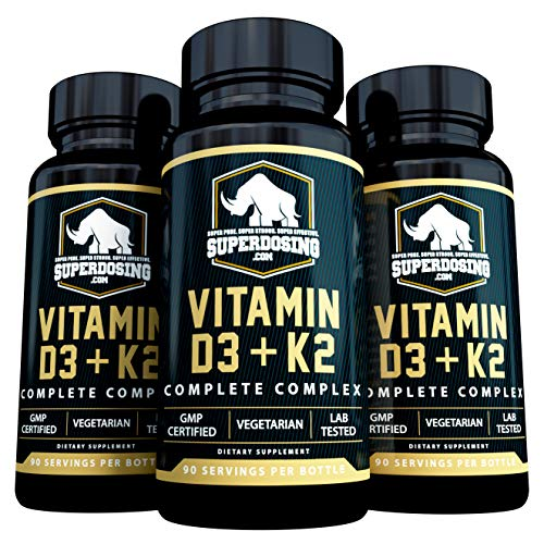 [270 Days] Max Strength, 2in1 D3 and K2 with 10,000 iu Vit D and 1,500 mcg Vit K. D3K2 Supplements Promote Bone and Heart Health. D3-K2 MK4 Supplement Capsule Boosts Immune System. Best K2D3 Vitamins