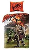 Jurassic World Dinosaurio Juego de Cama algodón Funda de edredón Cama 1Plaza