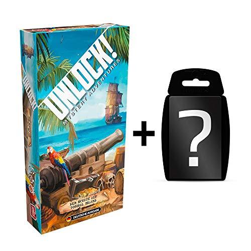 Unlock! - Der Schatz auf Tonipal Island - Brettspiel | Einzelszenario | Deutsch | Ratespiel | Set inkl. Kartenspiel