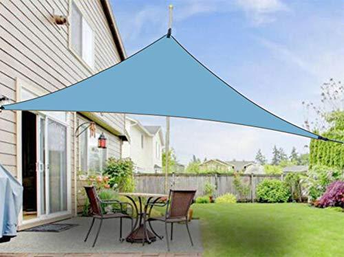 Jiepolly - Toldo triangular 3 x 3 x 3 m, protección solar para jardín, balcón, terraza, camping, poliéster PES, impermeable, protección contra el viento
