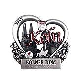 I LOVE KÖLN Kühlschrankmagnet aus Metall, stark, Kölner Dom Fernsehturm Hohenzollernbrücke Magnet als Deko für Kühlschrank