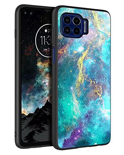 "BENTOBEN Moto One 5G Case, Moto G 5G Plus Case, Slim Fit Glow in The Dark Soft Flexible Bumper Protective Shockproof Anti Scratch Non-Slip Cases for Motorola Moto One 5G 6.7"" (2020), Mandala in Galaxy"
