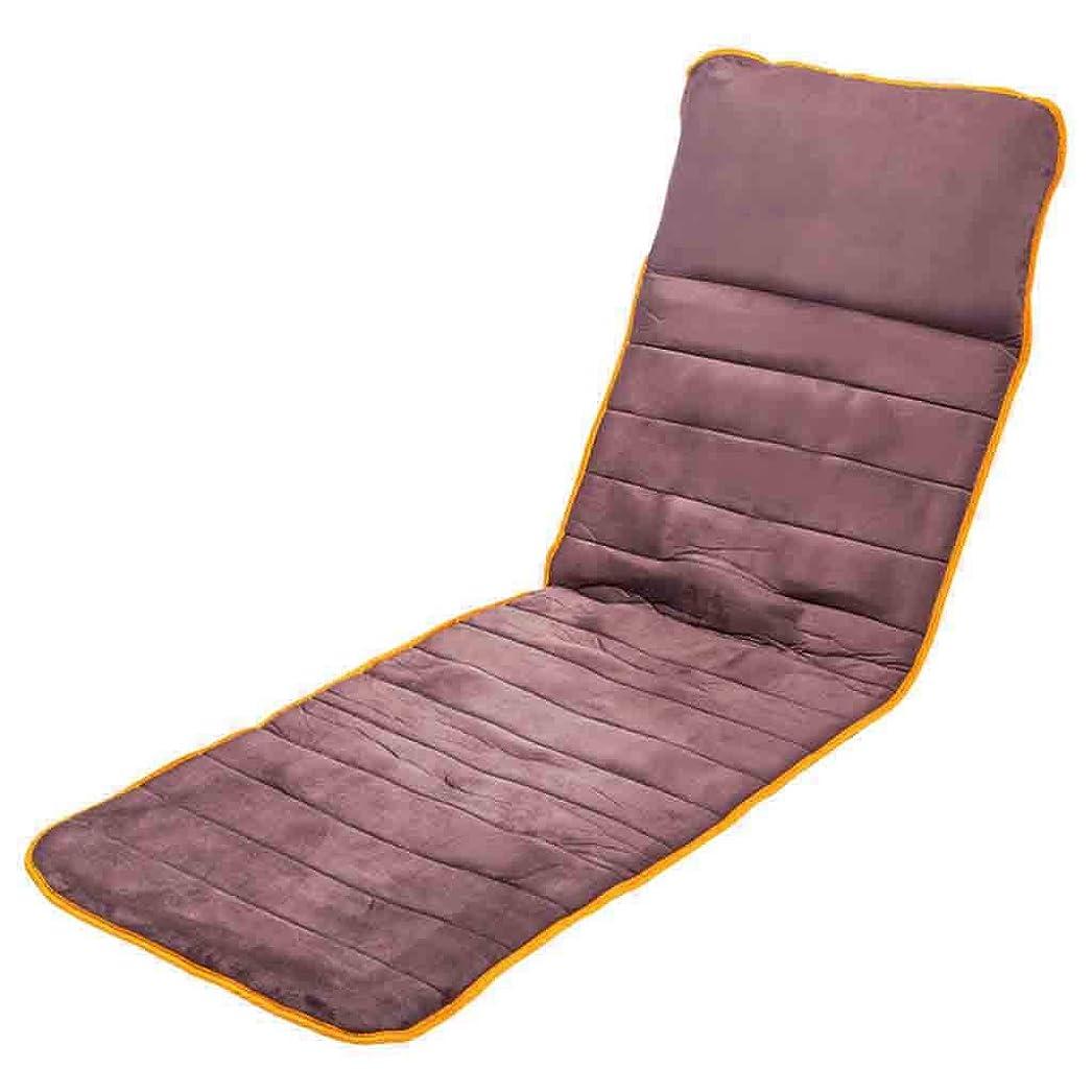 悪意のある効果的にワークショップフルボディマッサージマットレスでなだめるような熱療法多機能指圧振動折りたたみ式電動マッサージマットウェルネス&リラクゼーション腰痛脚の痛みを軽減,Brown,172cmx59cm