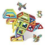 YYDE 109 PCS Bloques de construcción magnética, Conjunto de Azulejos magnéticos, Kit de Arco Iris de construcción magnética 3D, Bloque de construcción Creativo Regalo Educativo para niños niñas