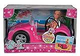 Simba 105738332 - Steffi Love Beach Car / Steffi im Sommeroutfit / mit Auto / Ankleidepuppe / 29cm,...
