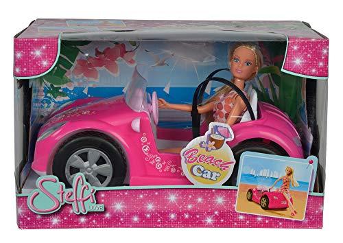 Simba 105738332 - Steffi Love Beach Car / Steffi im Sommeroutfit / mit Auto / Ankleidepuppe / 29cm, für Kinder ab 3 Jahren