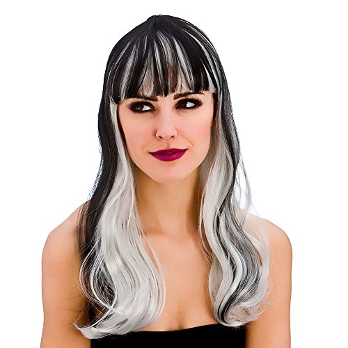 Ladies Dark Fantasy Wig Halloween Fancy Dress Accessory