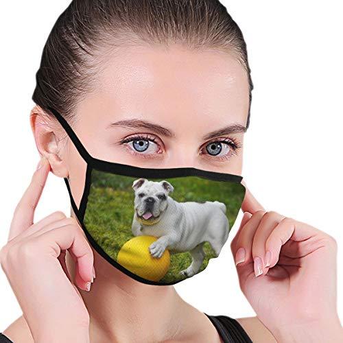 Mundmaske, Motiv: Englische Bulldogge Bulldogge, für Hunde und Frauen, personalisierbar