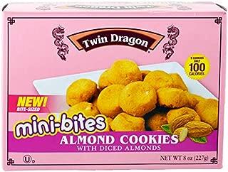 (Pack of 24) Twin Dragon Almond Cookies Almond Mini Bites 8oz