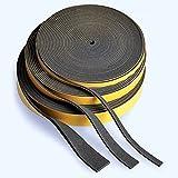 Zellkautschuk/Moosgummi EPDM Dichtungsband, schwarz, 10-m-Rolle   Stärke 1-5 mm   Breite 5-60 mm  ,...