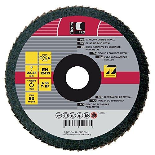 Circumpro 4333097024977taglia 60inclinato grana abrasiva piastra, nero, 115mm