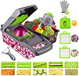 Ram Mandoline 13 in 1 Vegetable Slicer Food Cutter and Shredder Food Dicer Interchangeable Blades Grater, Chopper, Food Container All in ONE Slicer