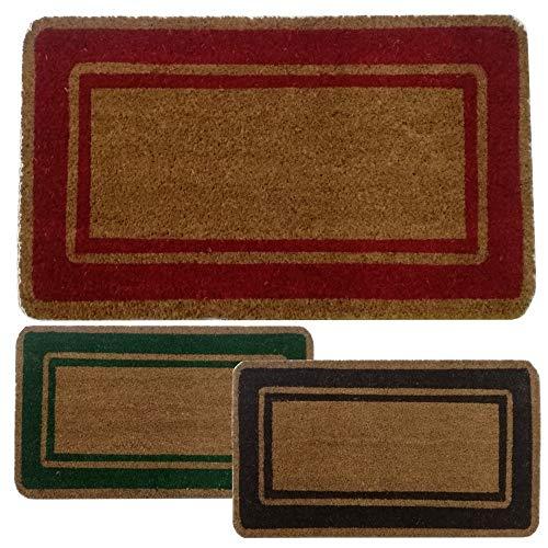 Parpyon® Felpudo para entrada de casa clásico, 33 x 70 cm, alfombra antideslizante felpudo de coco para interior y exterior, alfombras modernas (BP01R)